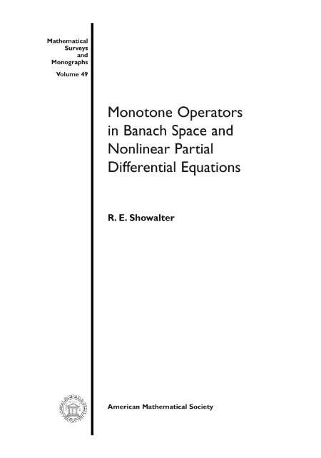 Monotone Operators In Banach Space And Nonlinear Partial Differential Equation