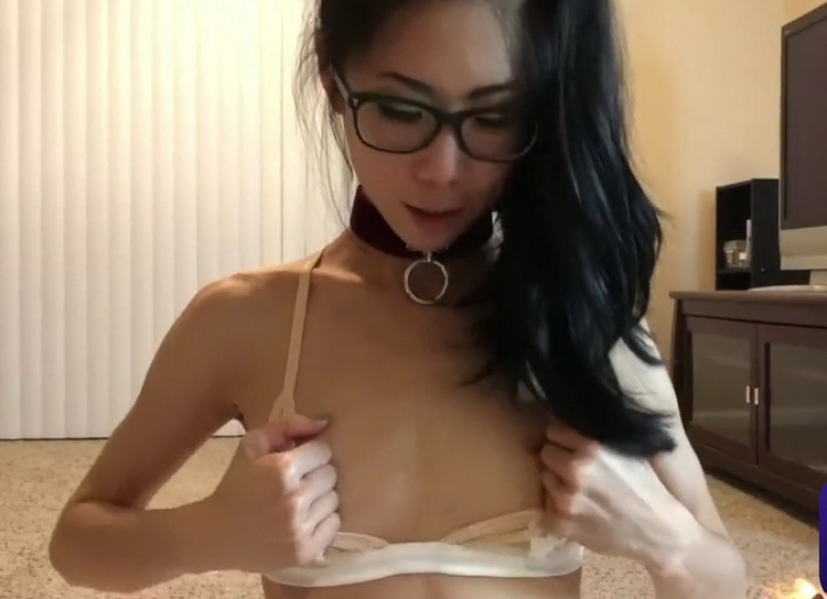 Amateur - High looking, lustful and coquettish glasses girl fights with a big cock [XB88 / FullHD 1080p]