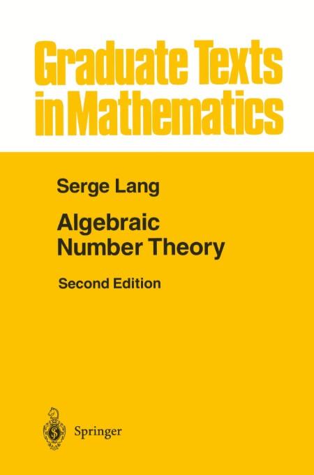 Algebraic Number Theory Serge Lang 1994