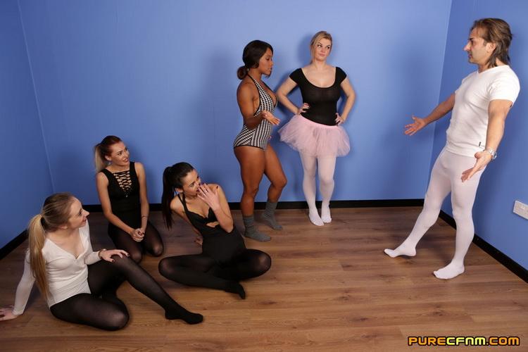 PureCFNM - Chloe Berry, Jade Louise, Kiki Minaj, Klara Belle, Tasha Holz - Ballet Boner [FullHD 1080p]