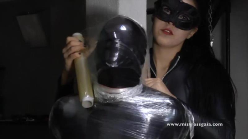 Mistress Gaia - SMOTHERED IN CLINGFILM, LATEX [MistressGaia.com] HD 720p