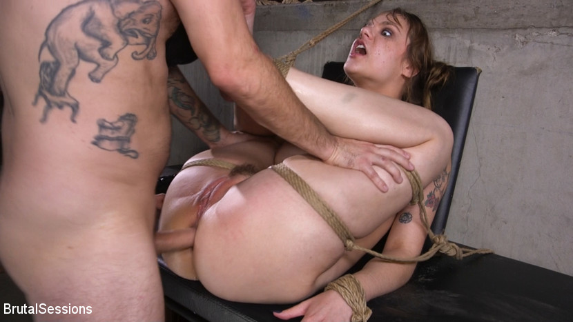 BrutalSessions.com/Kink.com: Tommy Pistol, Sailor Luna - Whore Slut Sailor Luna Ass Fucked In Rope Bondage [SD 540p] (813 MB) - December 5, 2018