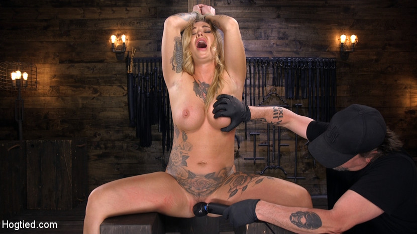 Hogtied.com/Kink.com: Kleio Valentien - Tattooed Slut Is Tormented In Bondage And Made To Cum [SD 540p] (353 MB) - August 16, 2018