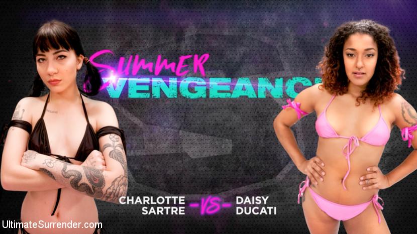 Ultimatesurrender.com/Kink.com: Charlotte Sartre, Daisy Ducati - Charlotte Sartre vs Daisy Ducati [SD 540p] (484 MB) - June 27, 2018