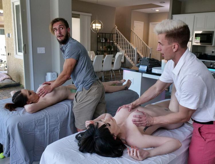 April Storm, Nickey Huntsman - Stepmoms's Massage Treat (MomSwap/TeamSkeet) HD 720p