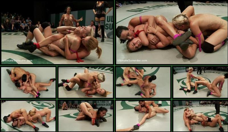 Wenona, Dylan Ryan, Krissy Lynn, Izamar Gutierrez - ROUND 2 of Julys Tag Team Match! Wild kinky bitches fight it out [UltimateSurrender.com/Kink.com] HD 720p