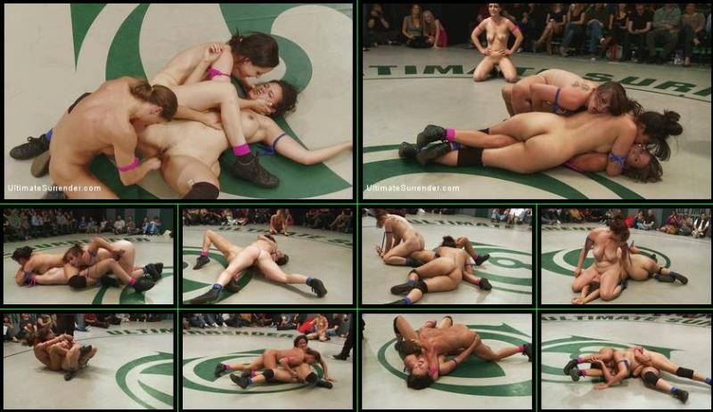 Penny Barber, Ariel X, Bella Rossi, Bryn Blayne - May Tag Team Match-up: Round 3 Clash of The Titans!!! [UltimateSurrender.com/Kink.com] HD 720p