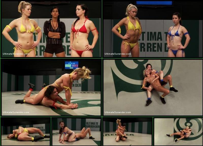 Holly Heart, Katie Summers, Serena Blair, Bryn Blayne - Bonus: Serena Blair vs Katie Summers, Bryn Blayne vs Holly Heart [UltimateSurrender.com/Kink.com] HD 720p