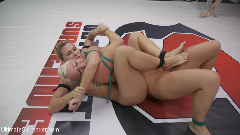 Ultimatesurrender.com/Kink.com: Rizzo Ford, Ariel X, London River - Beautiful, Powerful Blonde Wrestler is Destroyed on the Mats [SD 540p] (550 MB) - September 27, 2017