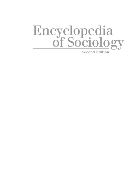 Edgar F Borgatta Rhonda J V Montgomery Encyclopedia of Sociology Volume 5