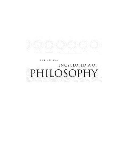 Encyclopedia Of Philosophy Volume 6 Masaryk Nussbaum